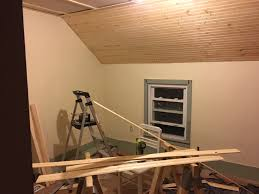 how to install pine tungue and groove boards paneling on ceiling