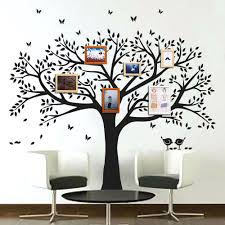 ... wall decals photo frame tree stickers living room ho. bird ...