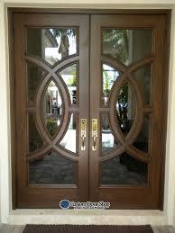 mahogany wood doors with glass custom