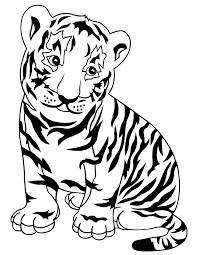 Small Picture Free Printable Tiger Coloring Pages H M Coloring Pages