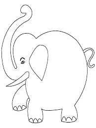 Coloring Pages Elephant Cartoon Elephant Coloring Pages Coloring