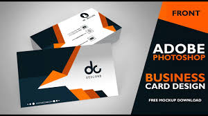Business Card Design In Photoshop Cs6 Front Photoshop Tutorial
