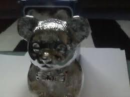 h samuel childhood memories silver plated teddy bear money box christening gift
