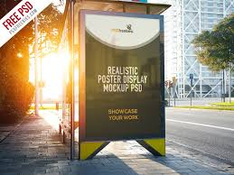 Mockup Poster Freebie Realistic Poster Display Mockup Free Psd By Psd Freebies
