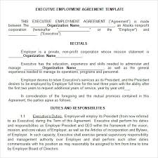 Sample Executive Agreement Executive Agreement 100 Download Free Documents in PDF Word 2