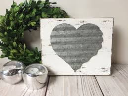 love sign christmas gift farmhouse decor rustic home decor wall decor  on home is where the heart is metal wall art with metal love sign mysideofthegarage