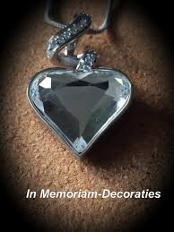 pendant for ashes crystal glass heart
