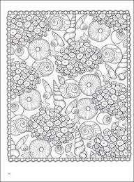 Small Picture SEASHELLS PATTERNS sample colouring pages FREE from Dover