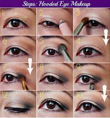 how to put eye makeup on small eyes good eye makeup for hooded eyes 79 for