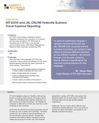 Case Study Ntt Data And Jal Online Federate Business Travel