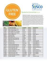 gluten free items sysco connecticut