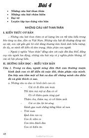 Soạn Văn 7: Những câu hát than thân