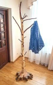 rustic coat tree rustic coat trees coat rack free standing birch stand rustic with trees design rustic coat tree