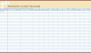 Wedding Guest List Template Excel Download Wedding Guest List Template