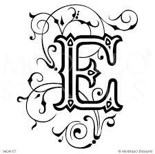Custom Letter Art Template Beauteous Monogram Wall Art Custom Lettering Stencils From Modello Designs
