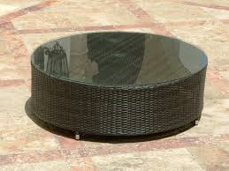 rattan coffee table with glass top wicker coffee table with glass top black round rattan coffee