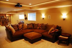 lighting sconces for living room. Spectacular Lighting Sconces For Living Room Your Guests Will Adore : Brilliant Dark Brown Sectional Sofa