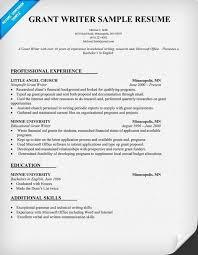 Grant Writing Resume Extraordinary Grant Writer Resume Template