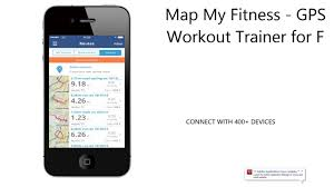 map my fitness  gps workout trainer for fitness step and
