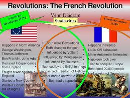 american revolution and french revolution venn diagram revolutions the french revolution ppt download