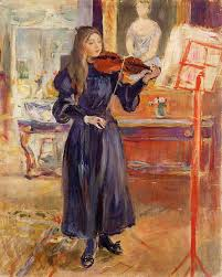 1872 studying the violin by berthe morisot 1893
