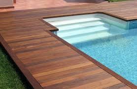 pool deck designs inground diy
