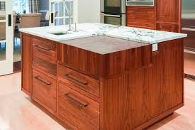 westchester kitchen custom design cabinetry island built in walnut butcher block countertop