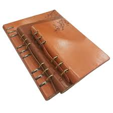 a4 ring bound notebook pu leather planner agenda
