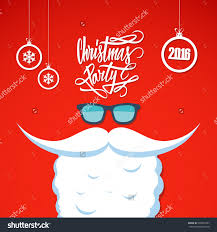 christmas poster for party hand drawn text design santa s save to a lightbox