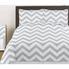 gray and white chevron 3pc bed in a bag zig zag king bedding set white and