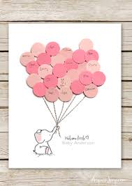 Guest Book Template Fascinating Elephant Baby Shower Guest Book Printable Aspen Jay