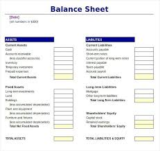 Projected Balance Sheet In Excel Statement Of Account Template Balance Sheet Excel
