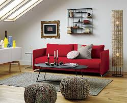 how to decorate living room with red