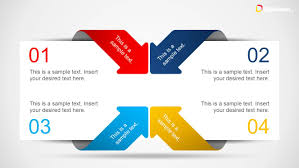 powerpoint text box templates creative 4 item layout template for powerpoint arrows