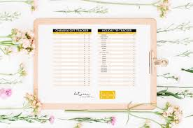 Gift Tracker Free Download Organize Your Chanukah Gifts Tips With This List