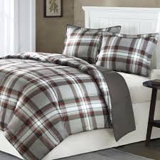 plaid duvet covers king red and black flannel cover 8