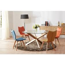 6 agave modern round dining table 140cm diameter glass top on dining room suites brisbane