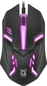<b>Мышь Defender Cyber</b> MB-560L 7цветов,3кнопки,1200dpi,черный
