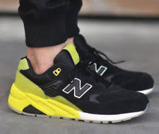 new balance 580. new balance 580 classic elite running sneakers new, black / neon green mrt580ug