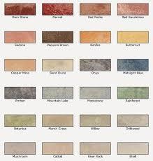 Concrete Stain Chart Valspar Semi Transparent Concrete Stain Colors For A Natural