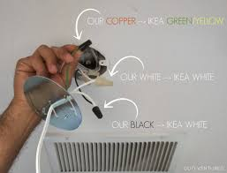 duo ventures how to install ikea alang ceiling lamp apparently if the manufacturer provides a fixture 2 white wires then it shouldn t matter which wire goes where it seems that the way the electricity