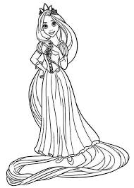 Small Picture Great Disney Princess Coloring Pages Rapunzel 97 With Additional