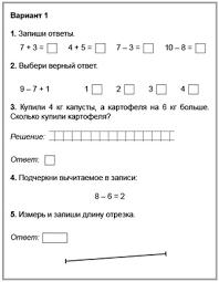 Проверочные работы и тесты