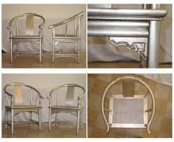 asian inspired furniture. asian inspired silver leaf chairs furniture