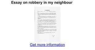 essay on robbery in my neighbour google docs