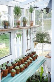 a husband and wife teamed together to build a greenhouse made from vintage windows and oh my this is like gardening church do you see that stained glass