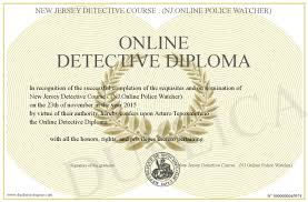 online detective diploma
