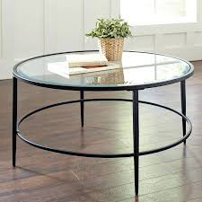 Mirrored Top Coffee Table Round Glass And Metal Lift
