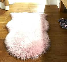s cream faux fur rug large ry