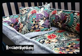 amazing baby nursery room decoration using punk crib bedding excellent skull girl ideas colorful